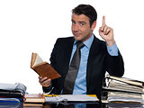 Man businessman professor  working