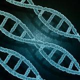 Grunge medical background with DNA strands