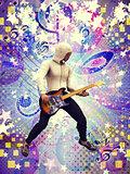 Funky guitarist