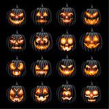Pumpins jack o lantern halloween face