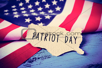 flag of the United States and the text Patriot Day, vignetted