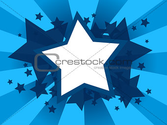 Abstract background with star shapes