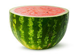 Half of red juicy watermelon rotated