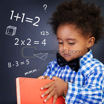 Little boy on math lesson