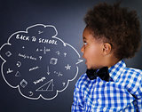 Smart schoolboy portrait