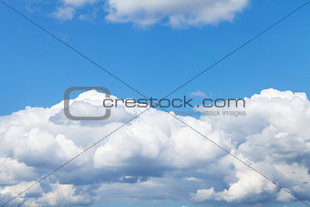 Blue sky and clouds with copy space