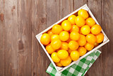 Yellow tomatoes box