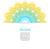 Color Mandala background