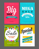 Big sale flyers template
