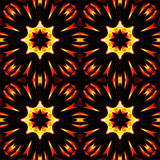 Abstract seamless pattern, fiery stars