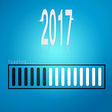 Blue loading bar yeaer 2017