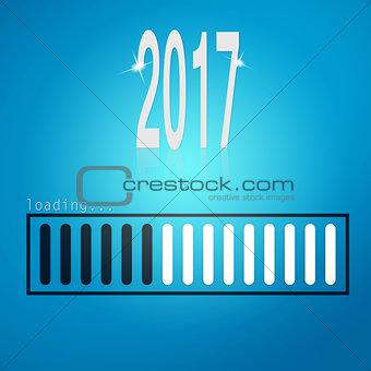 Blue loading bar yeaer 2017