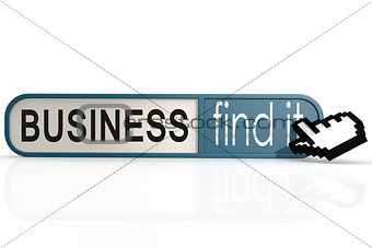 Business word on the blue find it banner