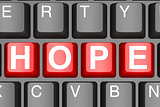 Hope button on modern computer keyboard