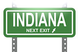 Indiana green sign board isolated