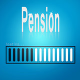 Pension blue loading bar