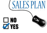 Sales plan with mouse