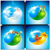 Eco concept planet nature