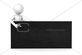 3d man black board