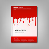 Brochures book or flyer with spilled red color template