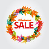 Autumn Sale Concept Vector Illustration