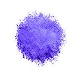 Colorful watercolor violet drop