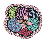 Colorful doodling hand drawn amazing flower