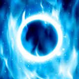 Ring of Fire. Vector Fiery Circle Background