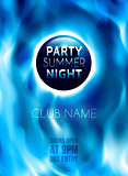 Night Club Colorful Flyer Template. Vector Illustration