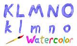 Watercolor font