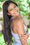 Smiling Indian Asian Young Woman Girl