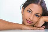Portrait Beautiful Asian Indian Woman Girl