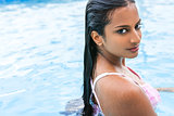 Sexy Indian Asian Woman Girl in Swimming Pool