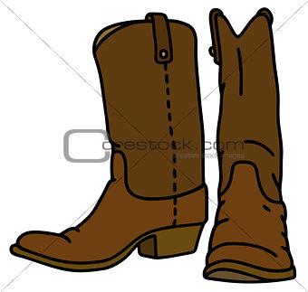 Classic leather jackboots