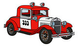 Vintage fire patrol car