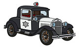 Vintage police car