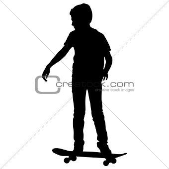 skateboarders silhouette. Vector illustration.