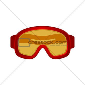 Ski sport goggles in red design