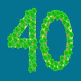 Figure forty 40 anniversary celebration tropical island