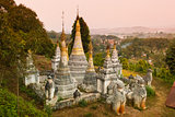 Ancient buddhist temple, Pindaya, Burma, Myanmar.