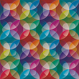 Overlap and transparent circles and squares. Colorful seamless b
