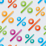 Multicolor percent symbols wallpaper.