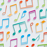 Multicolor musical wallpaper.
