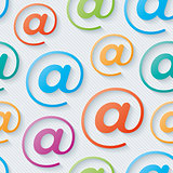 Colorful e-mail wallpaper.