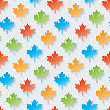 Multicolor maple leaves wallpaper.