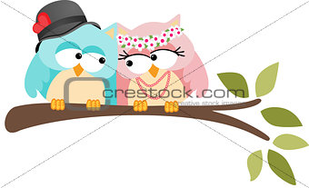 Adorable Couple Wedding Cute Owls