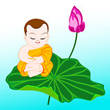 monk on lotus