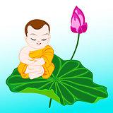 monk on lotus