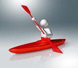 Canoe Slalom 3D symbol, Olympic sports