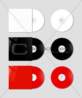 CD - DVD mockup template